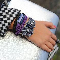 #bydziubeka na co dzień :) #jewellery #jewelry #bracelet #blue #style #silver #black #white #blackwhite