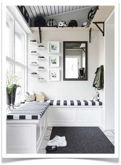 Mud room organization...