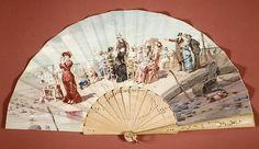 Fan Date: 1880s Culture: American or European