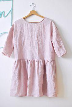 Pre mamu : Ružové šaty so zapínaním vzadu Slow Fashion, Heavenly, Tunic Tops, Products, Women, Gadget, Woman