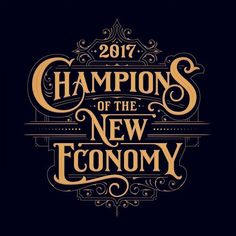 I recently created this headline for an article about the champions of the new economy in the 'dbusiness' magazine! ✨Art direction by Austin Phillips Typography Layout, Typography Letters, Lettering Design, Vintage Logo Design, Vintage Typography, Vintage Logos, Typography Inspiration, Logo Design Inspiration, Travel Inspiration