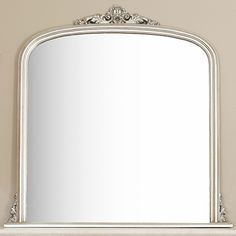 Image of Silver Overmantle Mirror