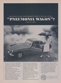 Vintage MGB GT Advertisement Poster A3//A4 Print