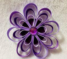 Flower Petal Loop Hair Bow