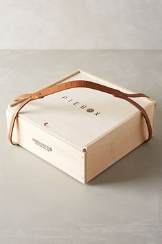 Wooden Pie Box Carrier - anthropologie.com 50$ for granna