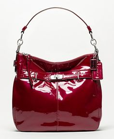 Coach patent leather red bag.