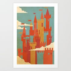 Buy Castles Art Print by r0gue. Worldwide shipping available at Society6.com. Just one of millions of high quality products available.