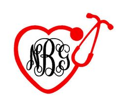 Personalized Nurse Stethescope Initial Decal