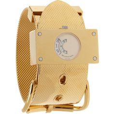 balenciaga. montre acier gold watch.