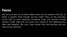 """""""Focus"""" story from creepy pasta"""