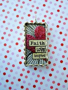 Faith Love Inspire Soldered Charm by justcharms on Etsy, $20.00