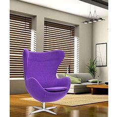 Fine Mod Inner Fabric Chair, Purple