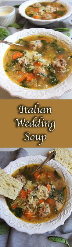 Italian Wedding Soup is a perfect fall soup. Comfort food at its best with pasta and meatballs, yet healthy with lots of veggies. Goes great with bread!