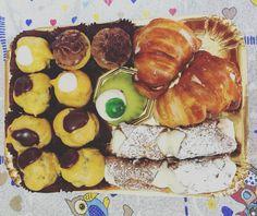 #sweets #cannolosiciliano #chocolate #cassatasiciliana #bignè #creme
