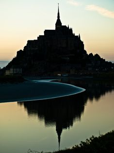 Oh yes! Here is my #1 Dream Spot at sunset...Take me away to the coast of France! Mont Saint-Michel