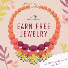 Earn Free Jewelry - Contact me to find out how!   cc.chinn@gmail.com www.chloeandisabel.com/boutique/charlenechinn