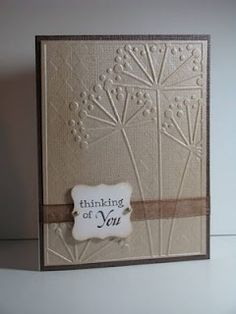 "Double embossing from ""Joyful Creations with Kim"""