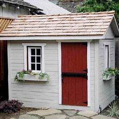 This Kids' House:     A life-sized playhouse is every kid's dream, but it can come with a hefty price tag. This 5x7 model, which has real cedar shingles and a working door and window, costs about $3,500 for the pre-cut wood and plans. But if you think you can DIY for cheaper, you can buy the plans for a much more affordable $99.     About $3,500 for the complete kit, $99 for plans; Summerwood.com