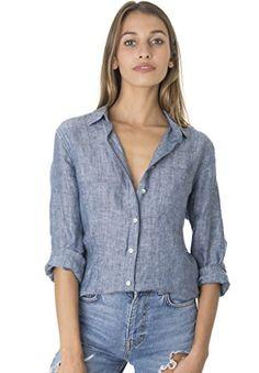 CAMIXA Women's Crushed Linen Casual Button-down Shirt Start from the basic Short Sleeve Linen Shirt, Long Sleeve, Summer Shirts, Casual Shirts, Linen Tops, Linen Shirts, Linen Blouse, Fashion Glamour, Fashion Art