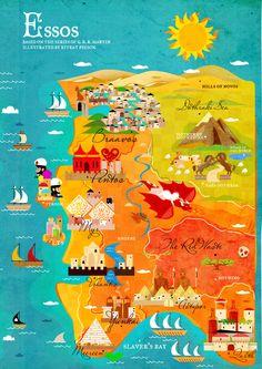 This looks like iberian peninsula :o -- Essos map by Kitkat Pecson. #got #gameofthrones #fanart