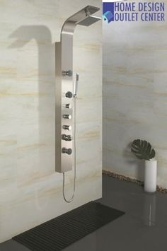 Contemporary Shower and Body Massage Jets