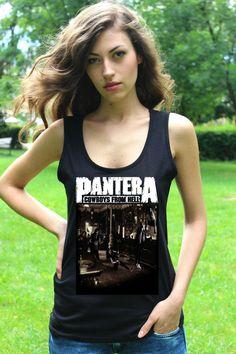 PANTERA COWBOYS FROM HELL Lady Long Sleeve T-shirt Woman Rock Band Tee