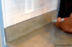 Concrete counter tops - DIY