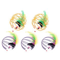 WinnerEco 5pcs Popular New Pet Cat Toy Mouse Feather Ball Lovely Kitten Gift Funny * You can find more details by visiting the image link. (This is an affiliate link and I receive a commission for the sales)