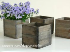 wood box wood boxes woodland planter flower rustic pot square vases for wedding top table decor wooden boxes rustic chic wedding