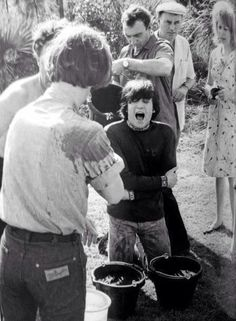 The beatles did it, before it was cool! I have no doubt the Beatles would have done an ice bucket challenge...