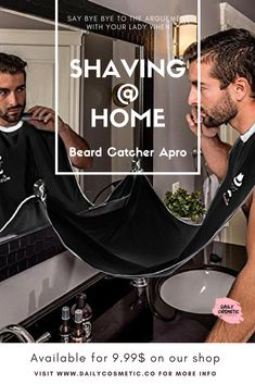 Honey Compact Waterproof Beard Shave Apron Solid Color Men Household Bathroom Beard Trimming Apron Hair Shave Apron Styling Tools Beauty & Health