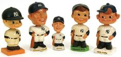 1960-1966 New York Yankees Bobbing-Head Doll Collection