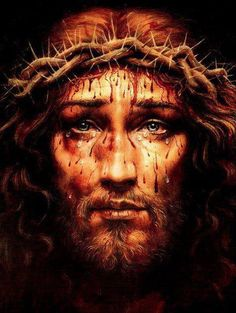 This is one of the most beautiful pictures I have ever seen of my Savior. I can actually feel the anguish by looking at his eyes. And to know he died for ME!!!! Those tears are for ME!