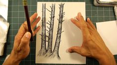 Stampscapes 101: Video 122. Mossy Trees design in progress.