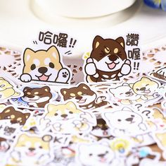 39pcs, Corgi dog stickers, dog, Planner Sticker, kawaii stationary, sticker flakes, Scrapbook Sticker, journal, cute, Sticker set, Filofax