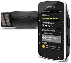 Garmin Edge 520 Bike GPS includes Heart Rate Monitor Strap Cadence sensor  Speed sensor >>> You can get more details by clicking on the image. (This is an affiliate link) #CyclingElectronics