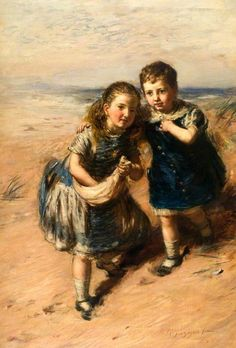 """Up on the Sandhills"" -- William McTaggart (1835 - 1910, Scottish)"