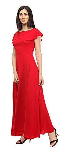f54678ced6 MsFQ Women s A-Line Maxi Dress (FDRF501215-red-S)  Amazon.in  Clothing    Accessories