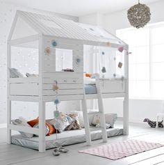 camas infantiles que simulan una casita