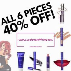 """Who wants to save 40% on a 6 piece Beauty Bundle?!   YOU PICK YOUR COLOURS!"""""""