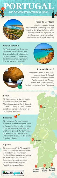 Lissabon, Porto und die sonnige Algarve - Mit meinen Portugal Tipps findet ihr garantiert das richtige Ziel für euren Sommerurlaub! Ich zeige euch außerdem die schönsten Strände Portugals. Holt euch jetzt Urlaubs Inspirationen!