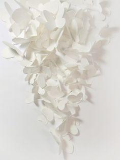100 Small Paper Butterfly Cut Outs  White por bluepandemonium