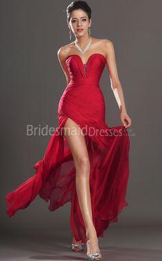 Sexy Red Mermaid Bridesmaid Dresses