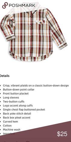 PLAID BUTTON DOWN  👁🗨BLACK FRIDAY PRICE Brown plaid button down top. Super cute!  Details pic 2 kitestring Shirts & Tops Button Down Shirts