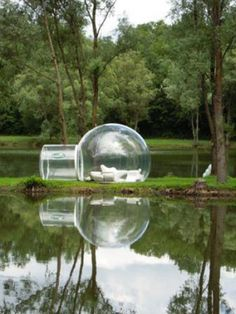 Bubble tents! So you can sleep under the stars (: