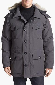 Canada Goose coats online store - Men's Canada Goose 'Banff' Slim Fit Parka with Genuine Coyote Fur ...