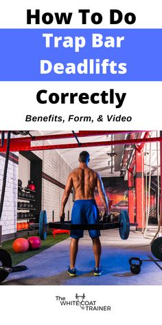 Learn how to use the trap bar deadlift in you workout to get the most benefit from this amazing exercise. Included is a breakdown on the muscles worked, a video on the proper form, and the benefits of the trap bar. Trap Bar Deadlift, Barbell Deadlift, Bar Workout, Workout Songs, Fit Board Workouts, Fun Workouts, Body Workouts, Deadlift Muscles Worked