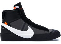 Buy and sell authentic Nike Blazer Mid Off-White Grim Reaper shoes and thousands of other Nike sneakers with price data and release dates. Off White Blazer, Off White Shoes, Hype Shoes, Men's Shoes, Baskets, Moda Formal, High Top Sneakers, Sneakers Nike, Fashion Shoes