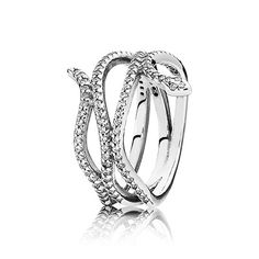 Add an exotic edge to your style with a beautiful take on this season's snake trend - an intricate sterling silver snake ring, set with glittering stones, which will sinuously encircle your finger. #PANDORA #PANDORAring