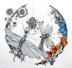 """Bugs & Butterflies. """"Anns Doodles"""".. What an AMAZING Artist!!"""